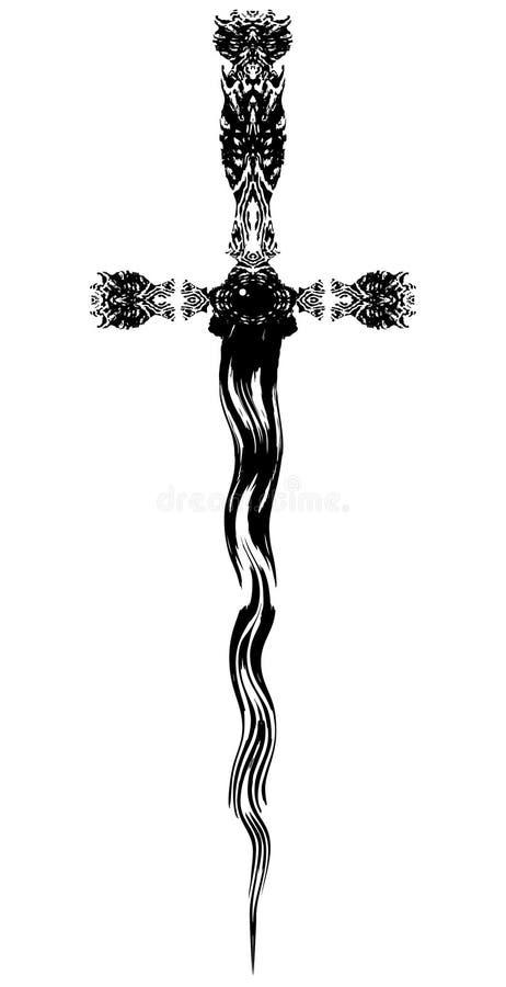 Zwart Blad royalty-vrije illustratie