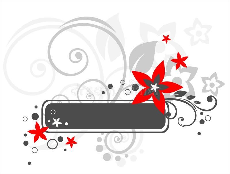 Zwart bloemframe royalty-vrije illustratie