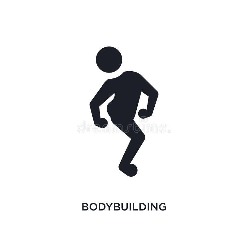 zwart bodybuilding geïsoleerd vectorpictogram eenvoudige elementenillustratie van de vectorpictogrammen van het sportconcept body vector illustratie