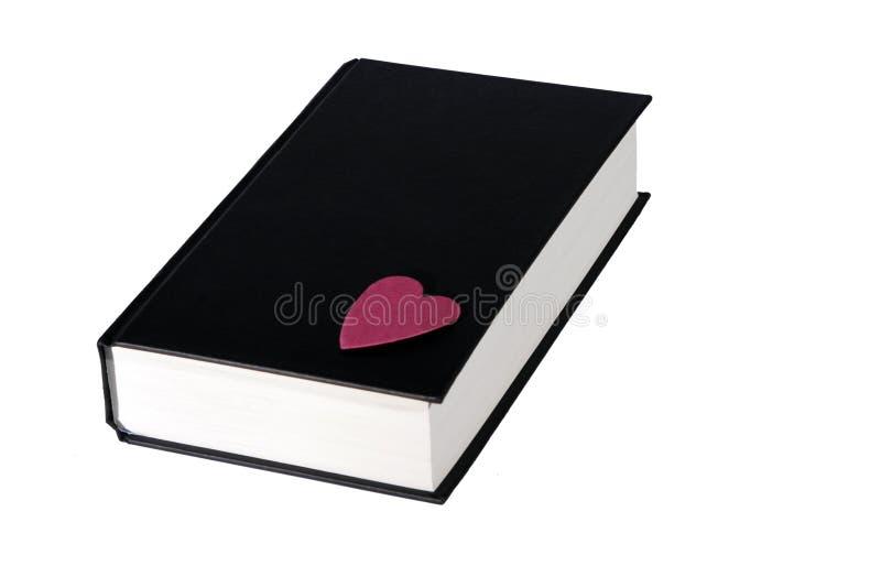 Zwart Boek met een Rood Hart royalty-vrije stock fotografie