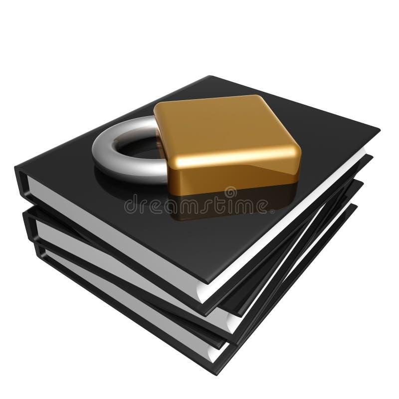 Zwart boek over Internet veiligheid vector illustratie