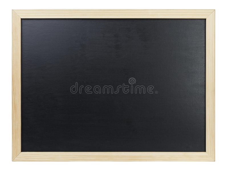 Zwart bord in houten kader royalty-vrije stock fotografie