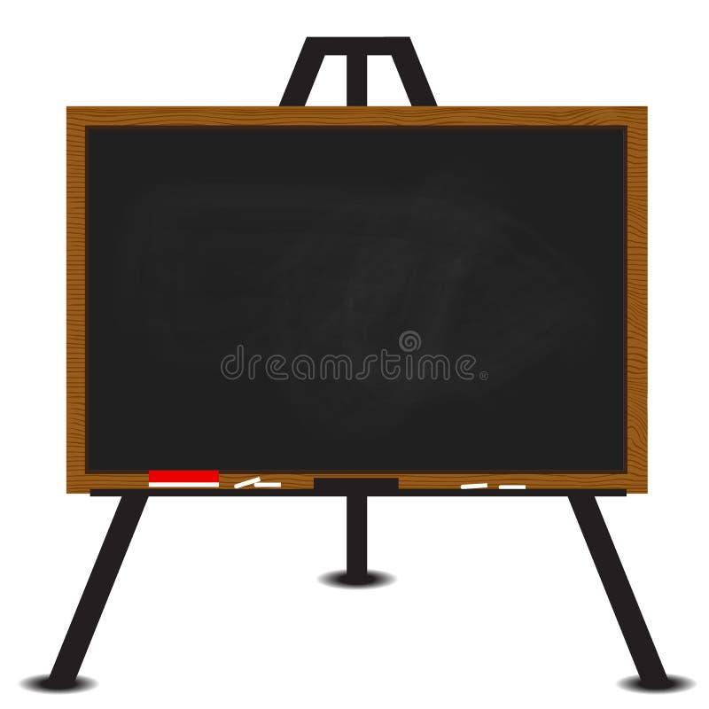 Zwart bord houten kader op schildersezel vector illustratie