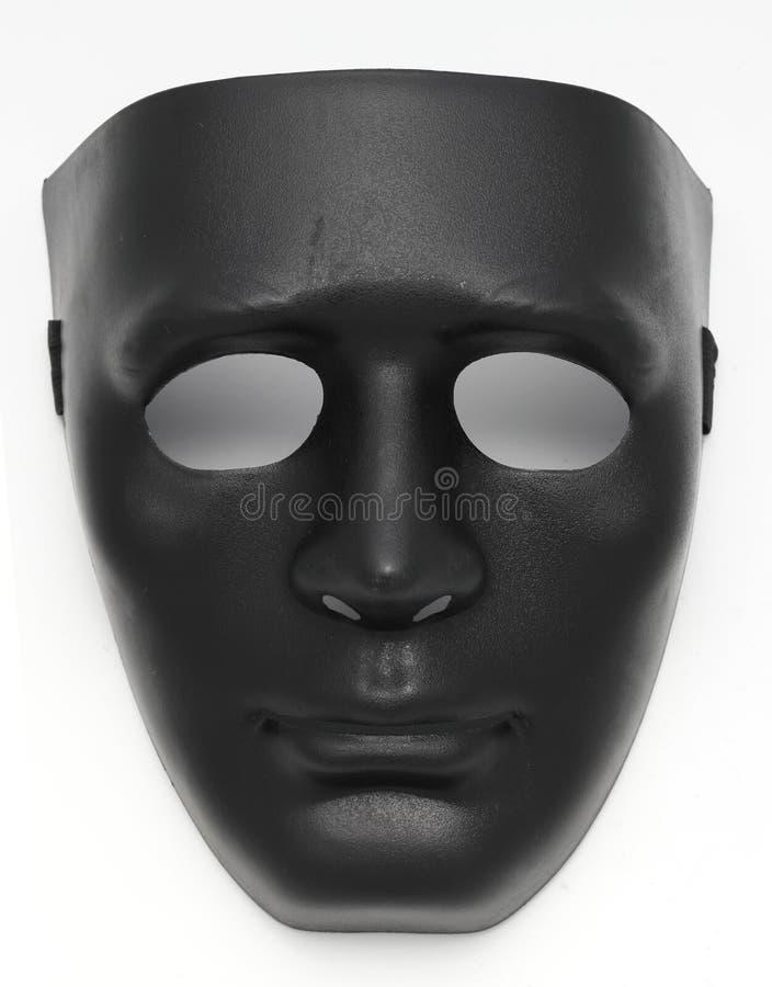 Zwart Buitensporig Masker royalty-vrije stock afbeelding