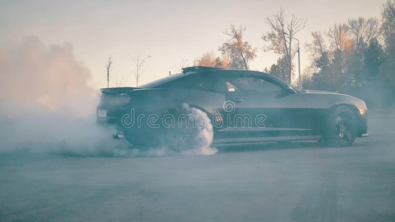 Zwart Chevrolet Camaro3 stock foto's