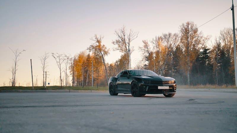 Zwart Chevrolet Camaro4 royalty-vrije stock foto