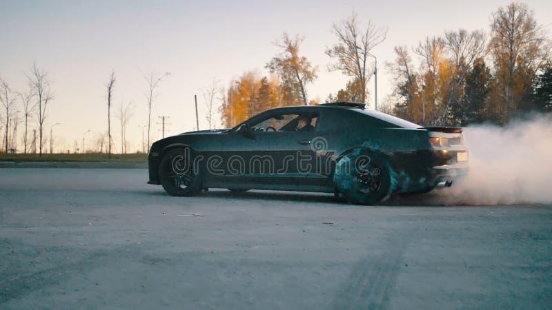 Zwart Chevrolet Camaro2 stock afbeelding