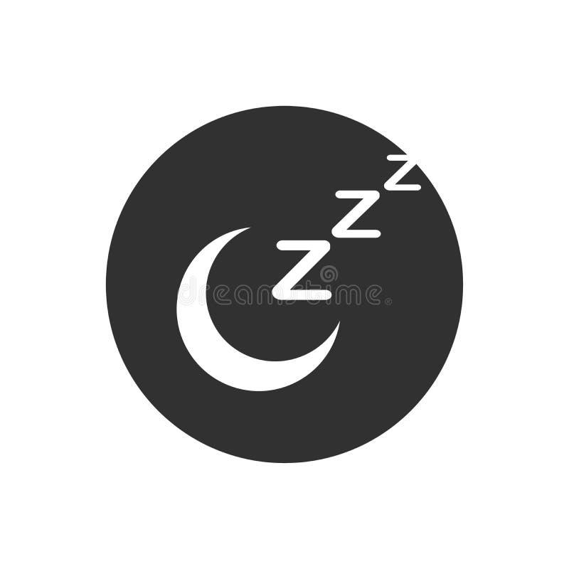 Zwart de slaappictogram van de zzzmaan, slaap, zzz vectordieWebpictogram op zwarte achtergrond wordt geïsoleerd stock illustratie
