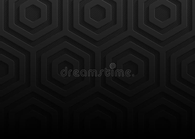 Zwart document geometrisch patroon, abstract malplaatje als achtergrond voor website, banner, adreskaartje, uitnodiging royalty-vrije illustratie