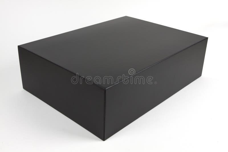 Zwart document vakje stock fotografie
