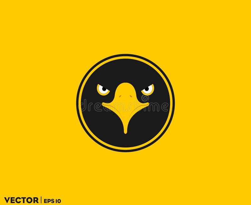Zwart Eagle Eye in Cirkel vector illustratie