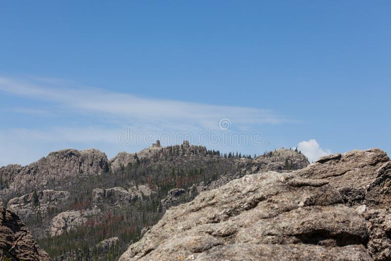 Zwart Elanden Piek Zuid-Dakota stock afbeeldingen