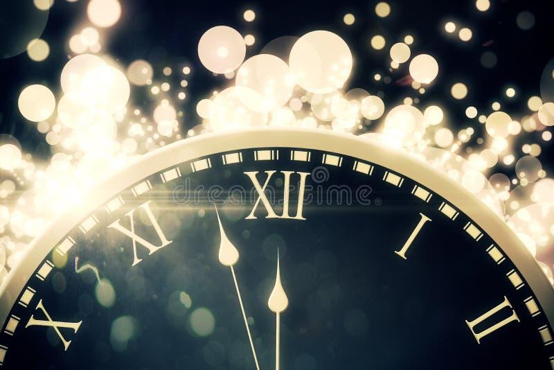 Zwart en gouden nieuw grafisch jaar stock foto
