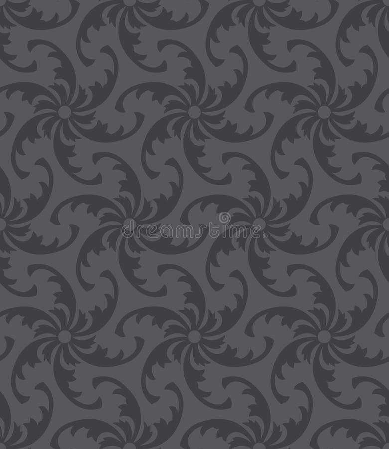 Zwart en grijs naadloos patroon stock afbeeldingen