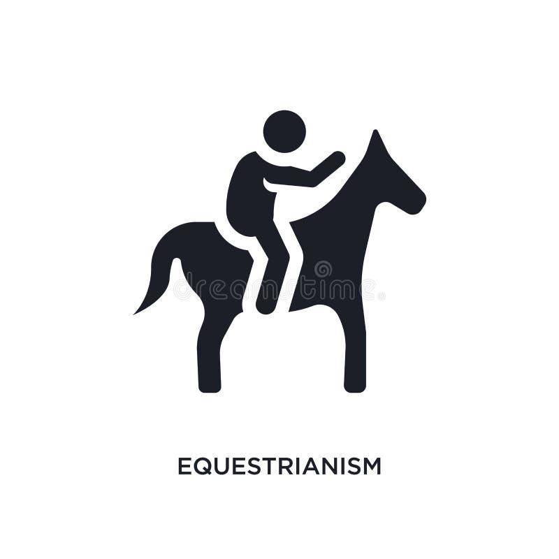 zwart equestrianism geïsoleerd vectorpictogram eenvoudige elementenillustratie van de vectorpictogrammen van het sportconcept equ vector illustratie