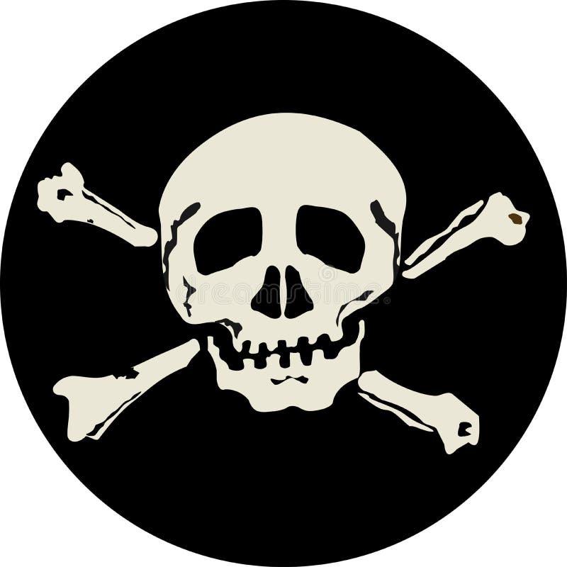 Zwart etiket vector illustratie