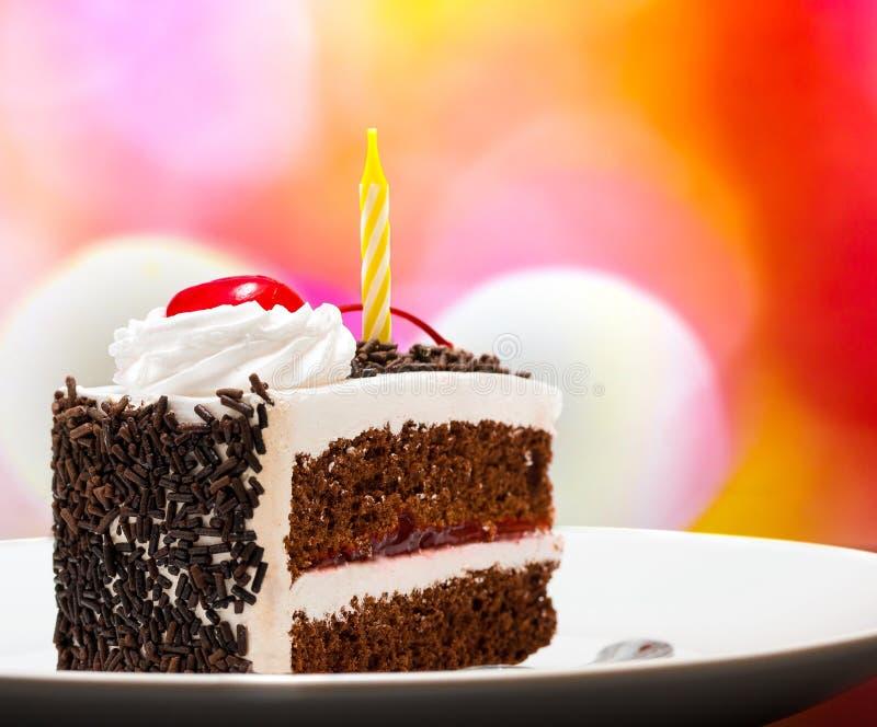 Zwart Forest Gateau Indicates Chocolate Cake en Smakelijk royalty-vrije stock fotografie