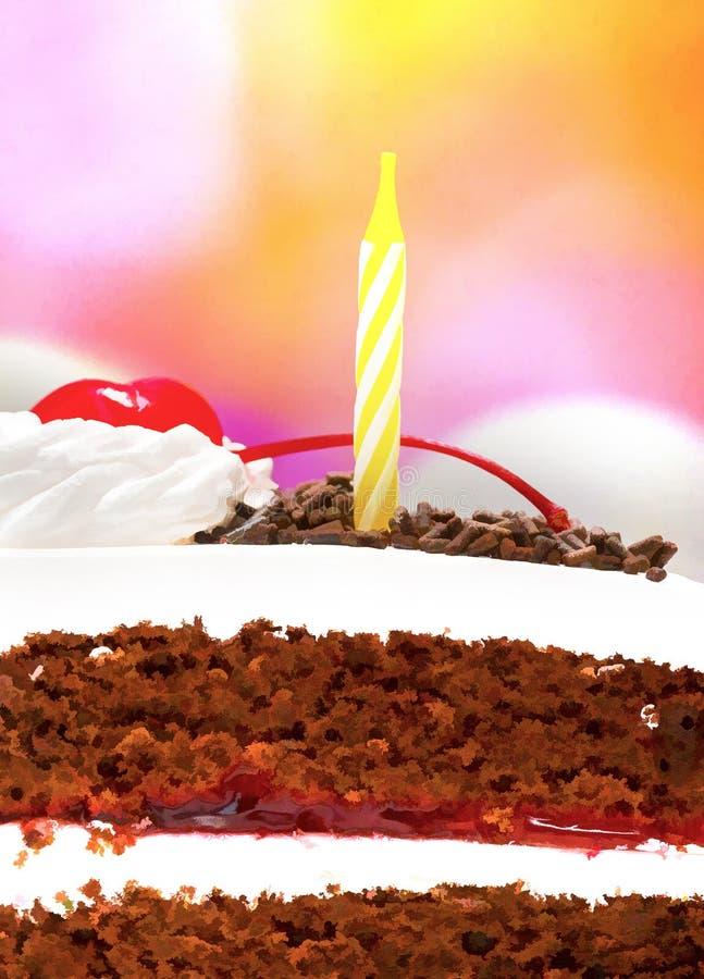 Zwart Forest Gateau Means Chocolate Cakes en Verjaardag stock foto