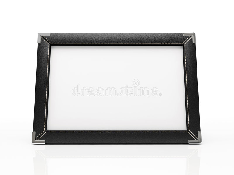 Zwart fotoframe royalty-vrije illustratie