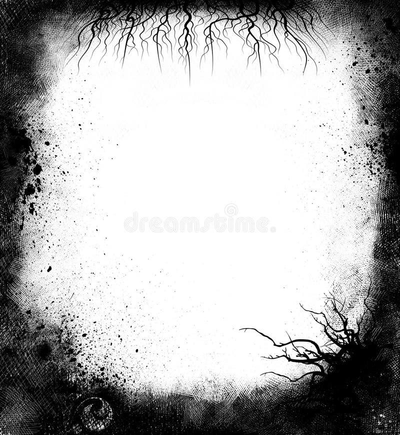 Zwart Frame Grunge royalty-vrije illustratie