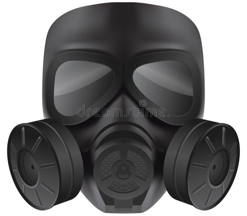 Zwart gasmasker stock foto