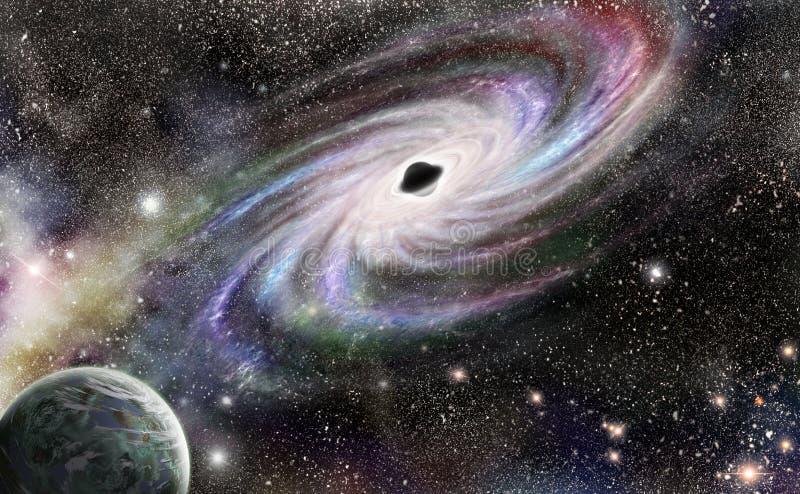 Zwart gat vector illustratie