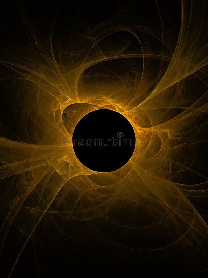 Zwart gat dat de Zon slikt vector illustratie