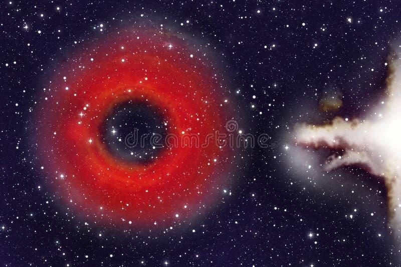 Zwart gat in de sterren royalty-vrije illustratie