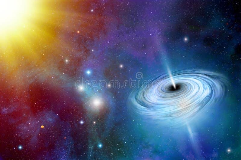 Zwart gat in ruimte royalty-vrije stock foto