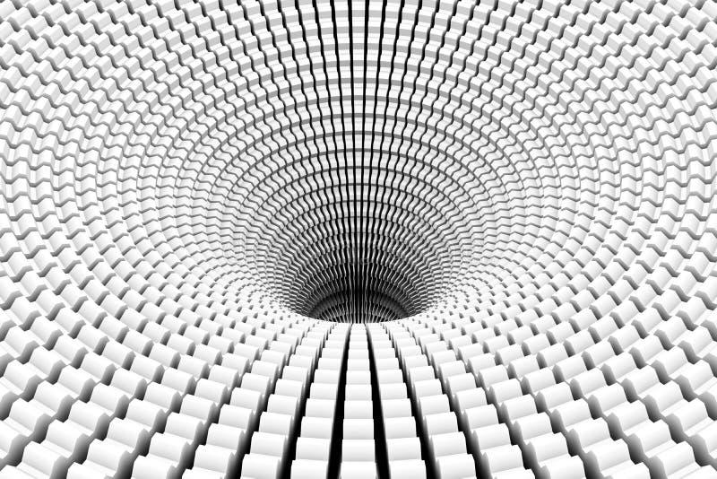 Zwart gaten zwart-witte abstracte achtergrond stock illustratie