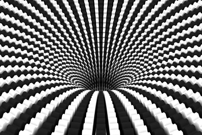 Zwart gaten zwart-witte abstracte achtergrond royalty-vrije illustratie