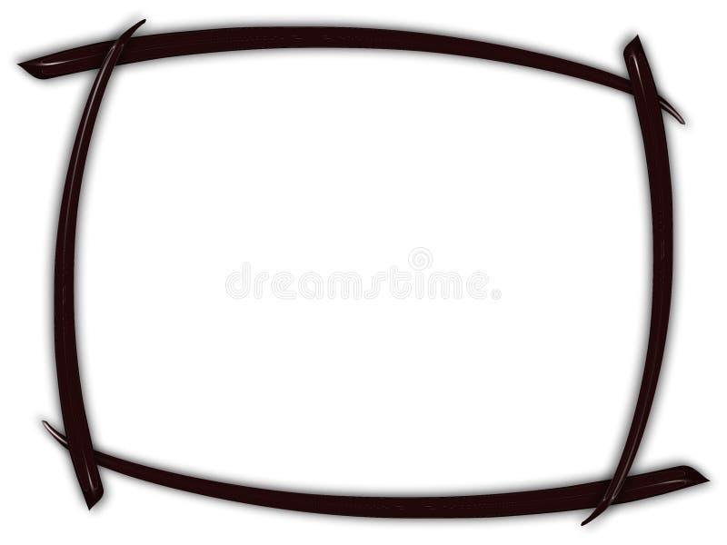 Zwart gebogen frame royalty-vrije illustratie