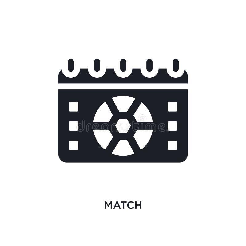 zwart gelijke geïsoleerd vectorpictogram eenvoudige elementenillustratie van de vectorpictogrammen van het voetbalconcept symbool stock illustratie