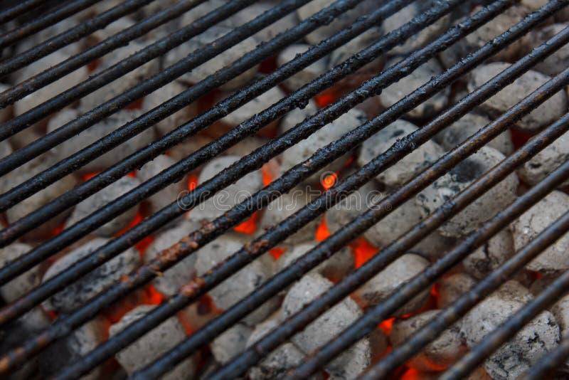 Zwart gemaakt barbecuenet stock afbeelding