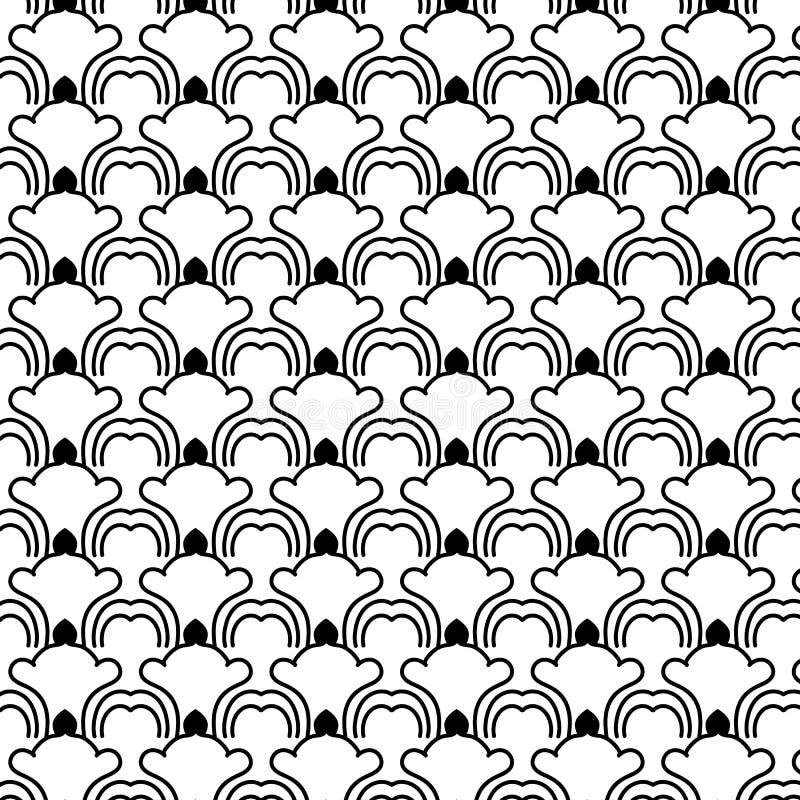 Zwart geometrisch patroon vector illustratie