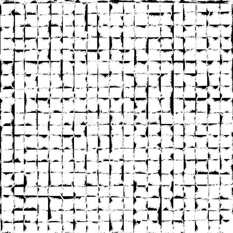 Zwart Geruit Grunge-Patroon royalty-vrije illustratie