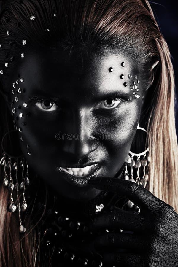 Zwart gezicht royalty-vrije stock foto's