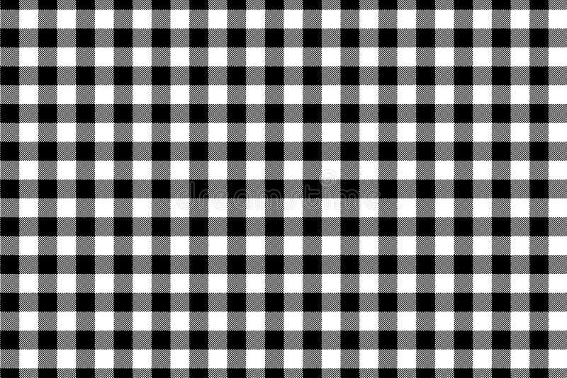 Zwart Gingangpatroon Textuur van ruit/vierkanten voor - plaid, tafelkleden, kleren, overhemden, kleding, document, beddegoed, dek stock foto's