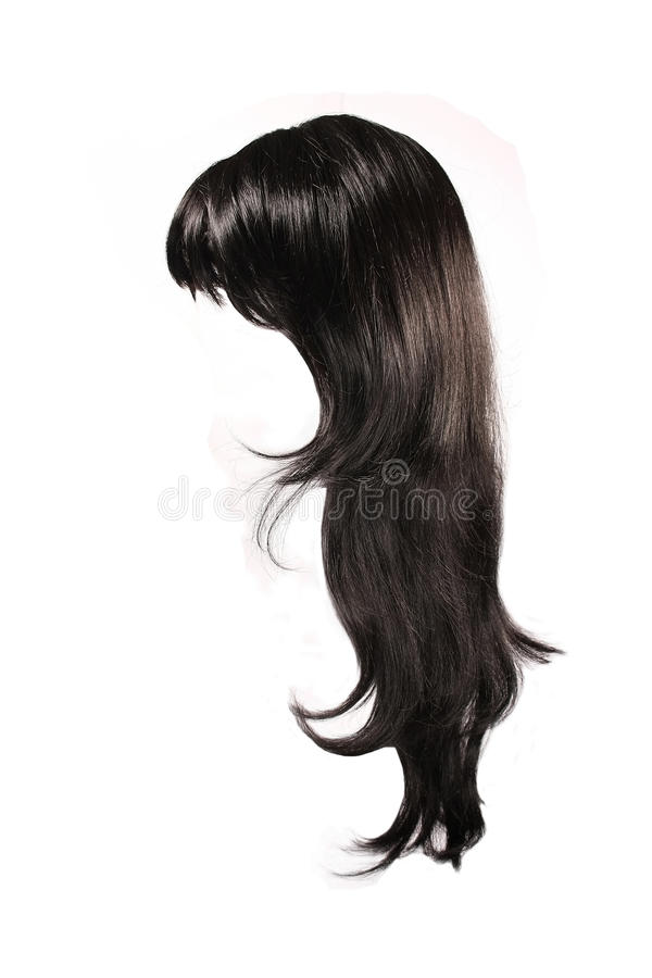 Zwart haar stock afbeelding