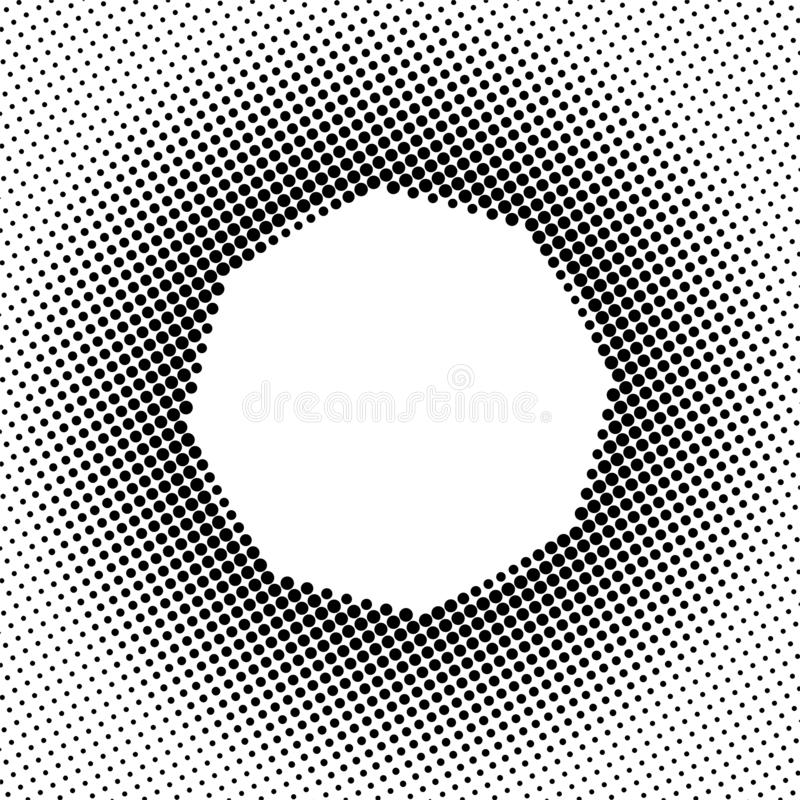 Zwart Halftone Dots Pattern op Witte Achtergrond royalty-vrije illustratie
