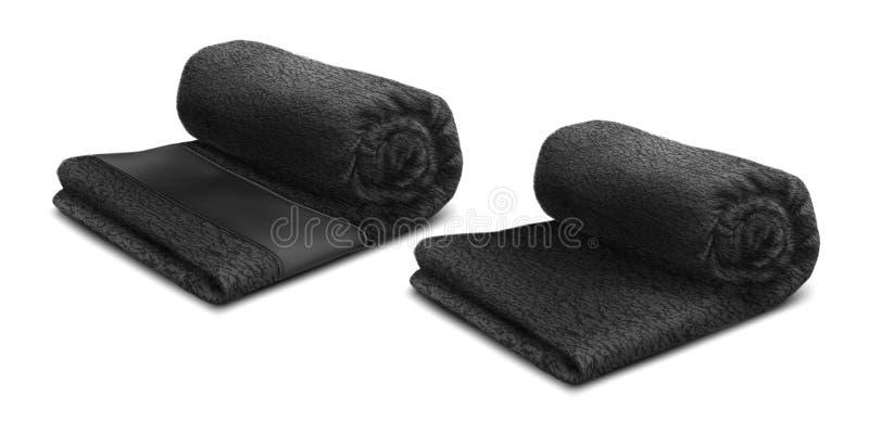 Zwart Handdoekbroodje stock afbeeldingen
