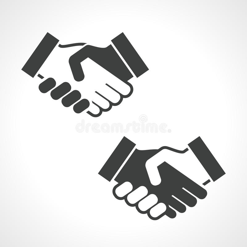 Zwart Handdruk Vectorpictogram vector illustratie