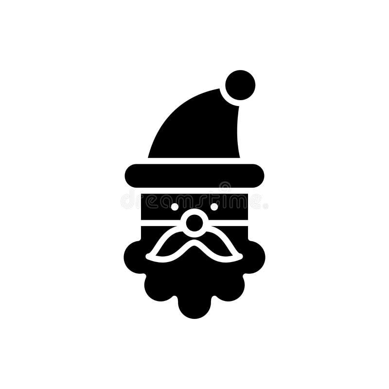 Zwart het pictogramconcept van de Kerstman Het vlakke vectorsymbool van de Kerstman, teken, illustratie royalty-vrije illustratie