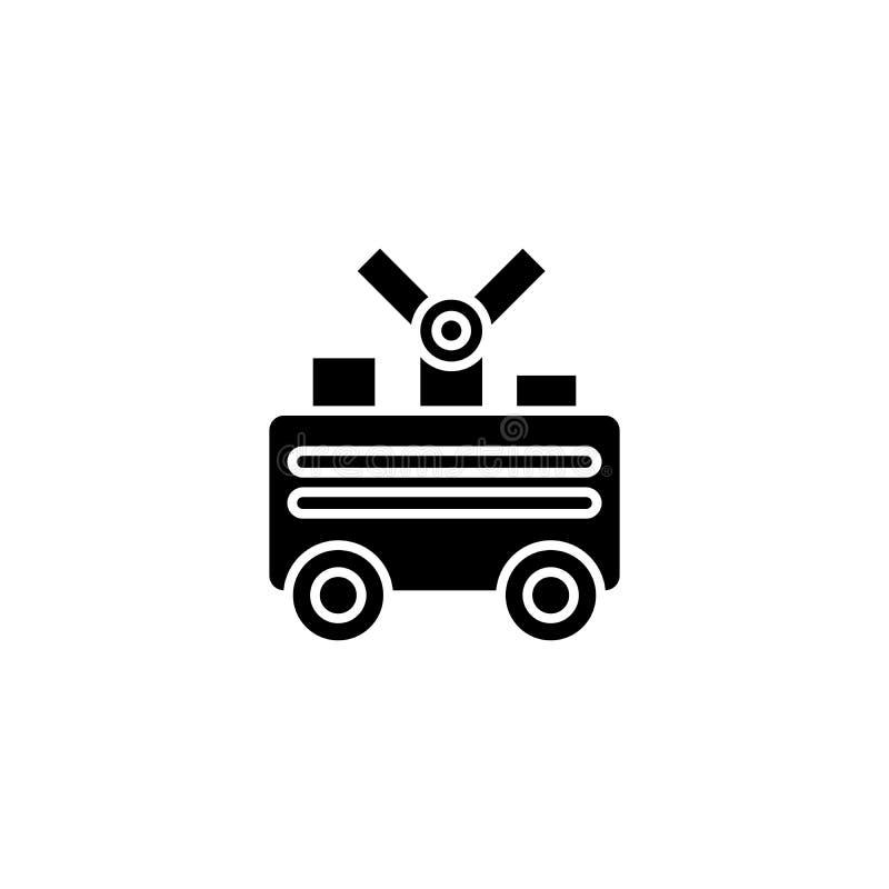 Zwart het pictogramconcept van de lassenmachine Het vlakke vectorsymbool van de lassenmachine, teken, illustratie stock illustratie