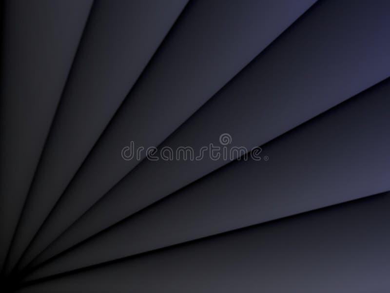Zwart hoekig driehoekenpatroon Document het conceptenachtergrond van het besnoeiingsontwerp vector illustratie