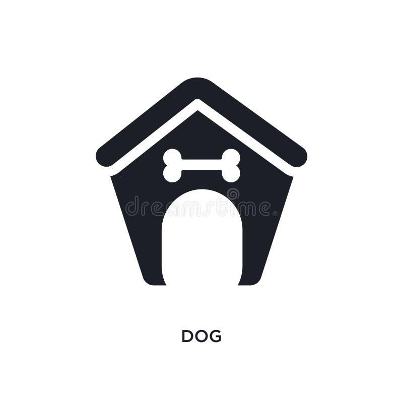 zwart hond geïsoleerd vectorpictogram eenvoudige elementenillustratie van de vectorpictogrammen van het meubilairconcept symbool  royalty-vrije illustratie