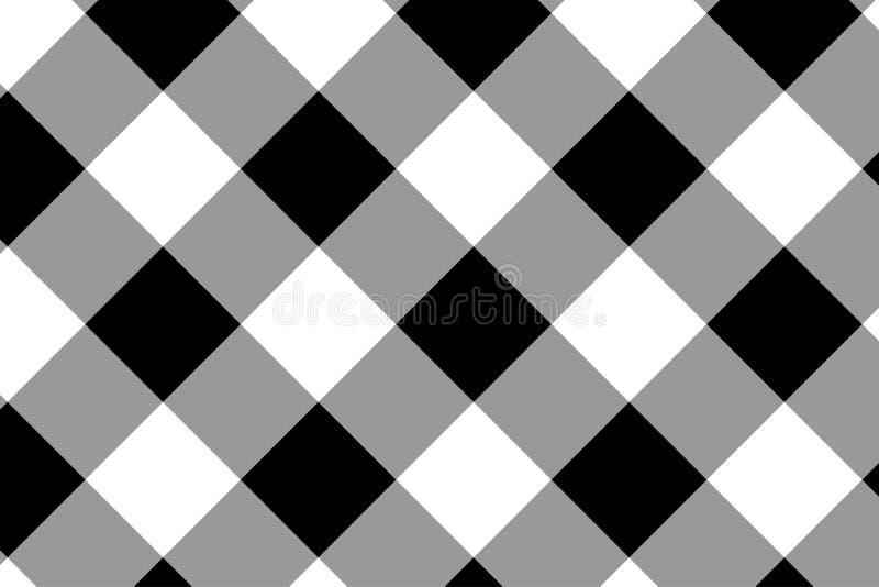 Zwart horizontaal Gingangpatroon Textuur van ruit/vierkanten voor - plaid, tafelkleden, kleren, overhemden, kleding, document, he vector illustratie