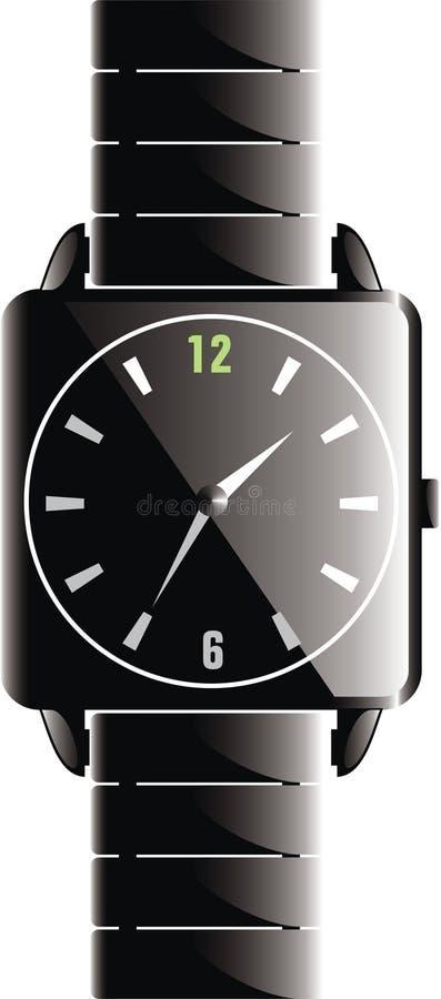 Zwart Horloge stock illustratie