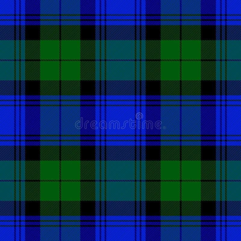 Zwart Horlogegeruit schots wollen stof Schotse kooiachtergrond royalty-vrije illustratie