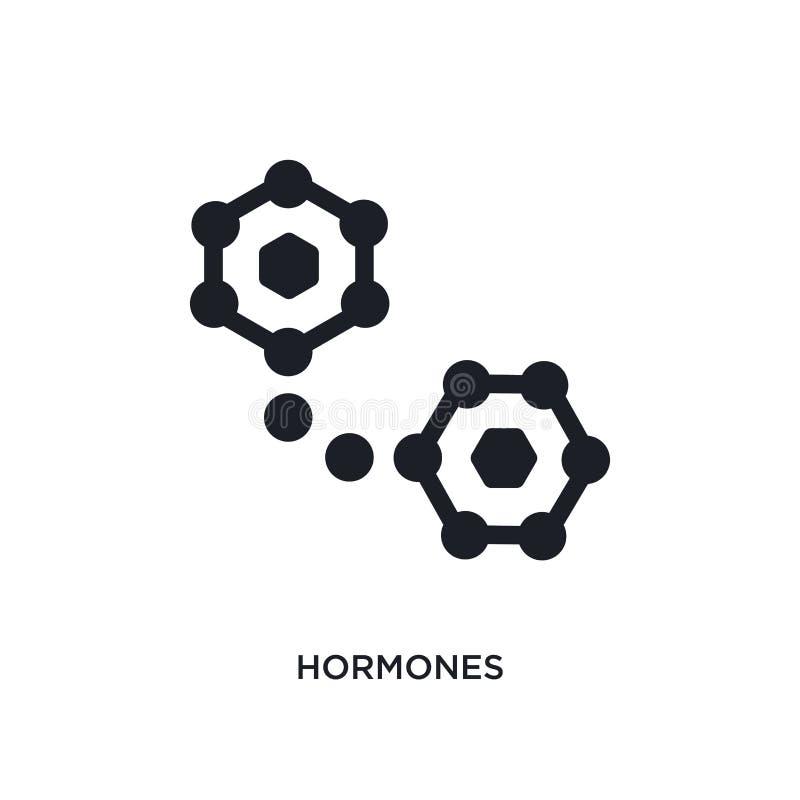 zwart hormonen geïsoleerd vectorpictogram eenvoudige elementenillustratie van de vectorpictogrammen van het saunaconcept symbool  stock illustratie